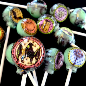Halloween bewitched edible image lollipops by I Want Candy!