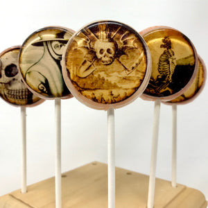 Gruesome skeleton lollipop 5pc set by I Want Candy