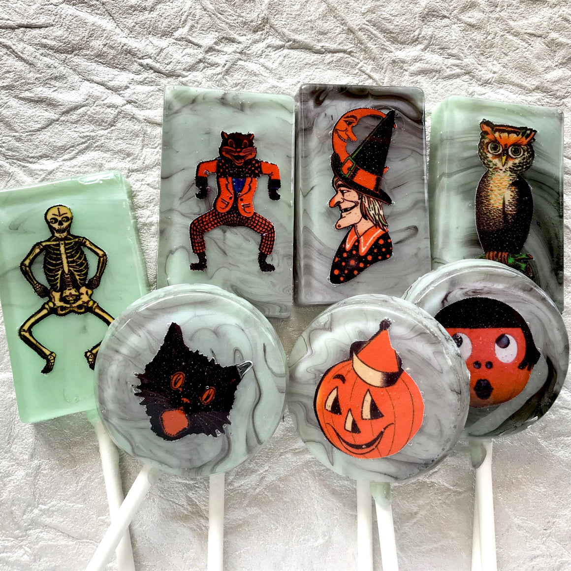 Kitschy Halloween Cutouts 5 piece lollipop set by I Want Candy!