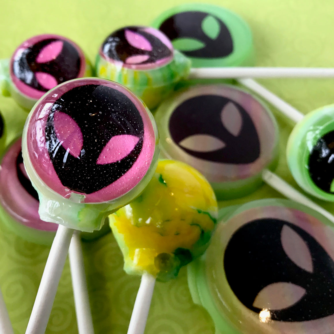 Visitors from another World! edible image lollipop by I Want Candy!