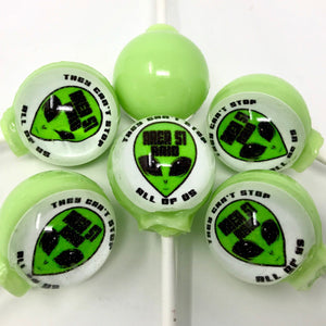 Area 51 Raid! edible image lollipop by I Want Candy!