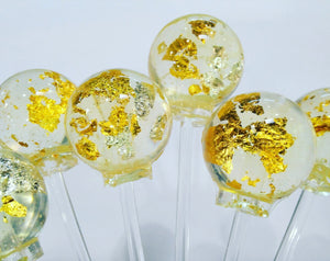 24 carat gold and edible silver lollipops by I Want Candy!