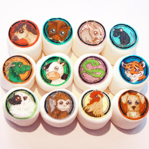 Chinese Zodiac edible art marshmallows by I Want Candy!