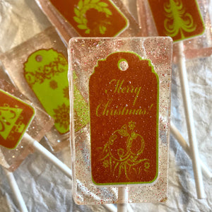 Christmas tags 5pc lollipop set, By I Want Candy!