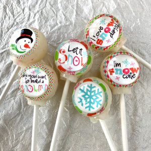 Let it Snow! Lollipop sets by I Want Candy!