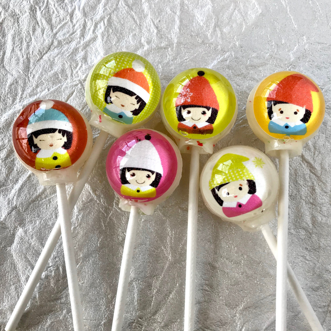 Holiday Elves Lollipop set, By I Want Candy!