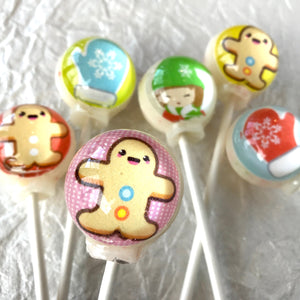 Gingerbread Cookie Lollipops, By I Want Candy!