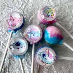 Galaxy of Critters lollipops by I Want Candy!
