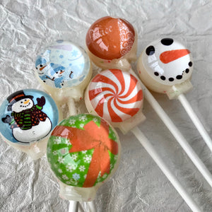 Winter Wonderland lollipop set, By I Want Candy!