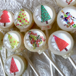 Holiday Trim-A-Tree lollipops by I Want Candy