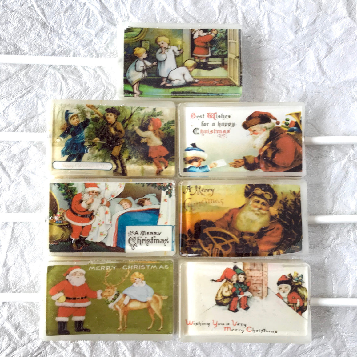 Vintage Christmas Cards 5pc set, By I Want Candy!