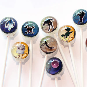 3D cemetery graveyard scenes lollipops by I Want Candy!
