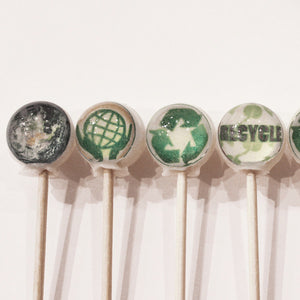 Earth Day edible art lollipops by I Want Candy!
