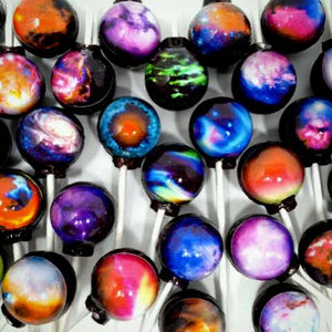 NEW 6pc Nebula edible image lollipops by I Want Candy!