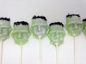 Frankenstein shaped lollipops by I Want Candy!(6pc)