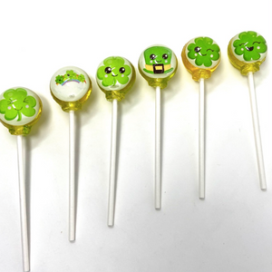 Happy Little Clovers set of 6 lollipops by I Want Candy!