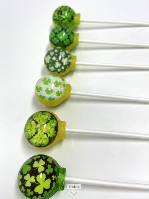 Shamrock 'n' Roll set of 6 lollipops by I Want Candy!