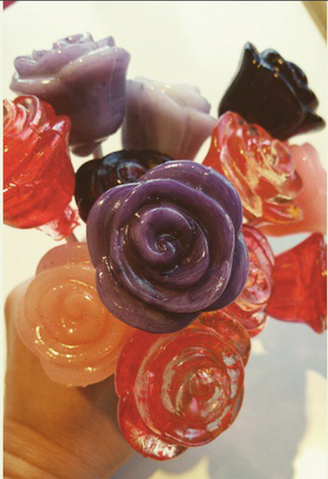 Rose shaped lollipops 6pc set by I Want Candy!