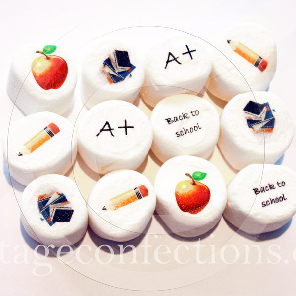 Back to school Teacher gift edible art marshmallows by Vintage Confections