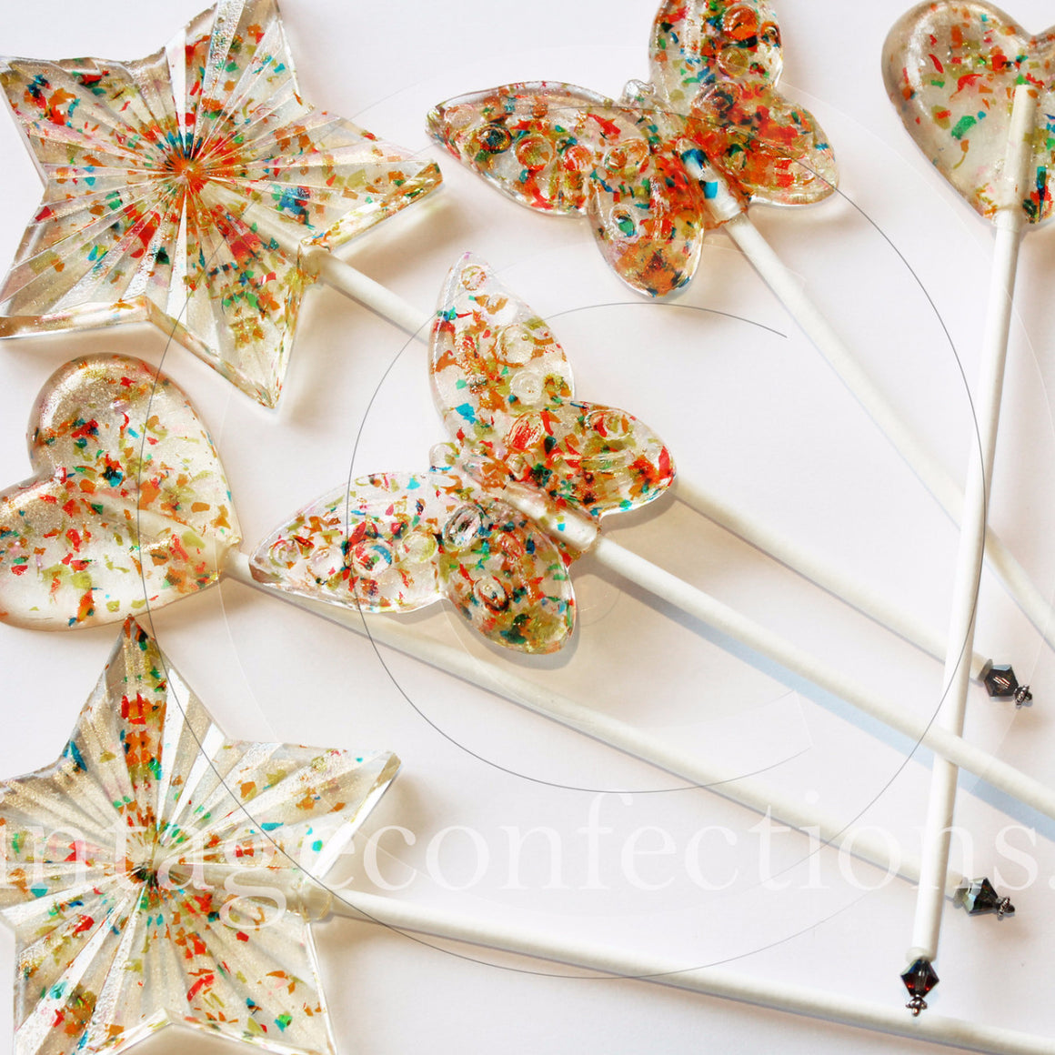 Bling it on Swarovski Crystal lollipops by I Want Candy!