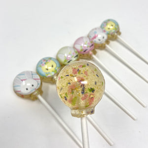 Chicks and Bunnies set of 6 lollipops by I Want Candy!