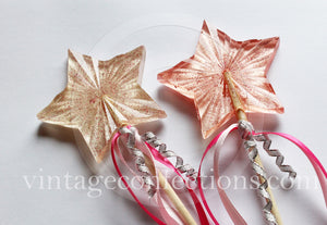 Princess star wand lollipops by Vintage Confections
