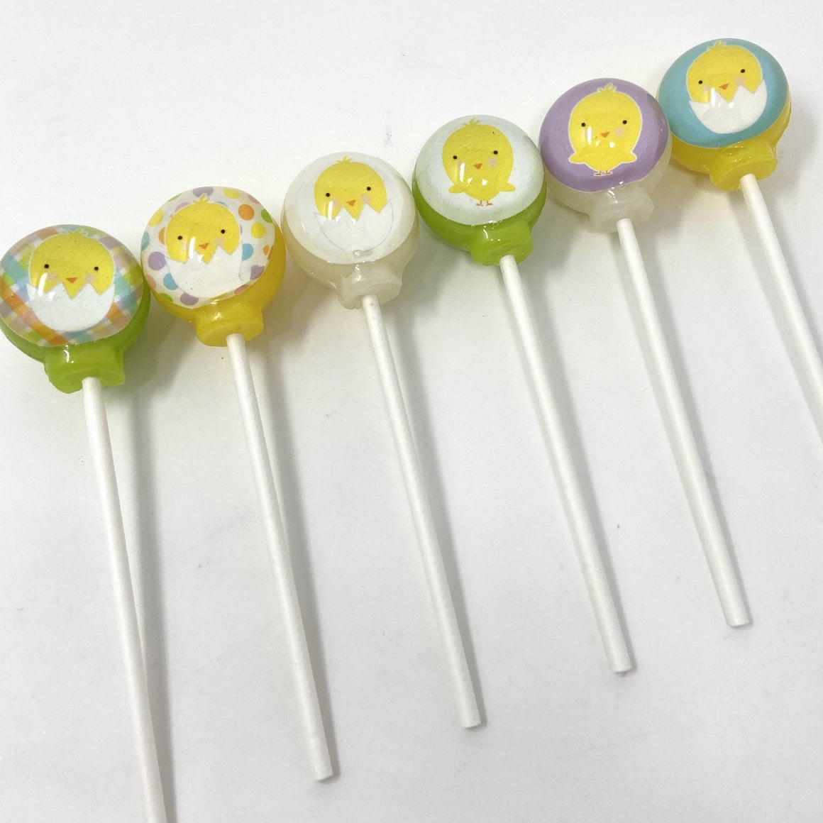 Baby Chicks set of 6 lollipops by I Want Candy!