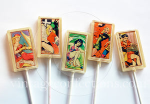 Cosmic comic girls rectangle edible image lollipops by I Want Candy!