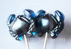 Nautical crab shaped lollipops by I Want Candy! (4pc)