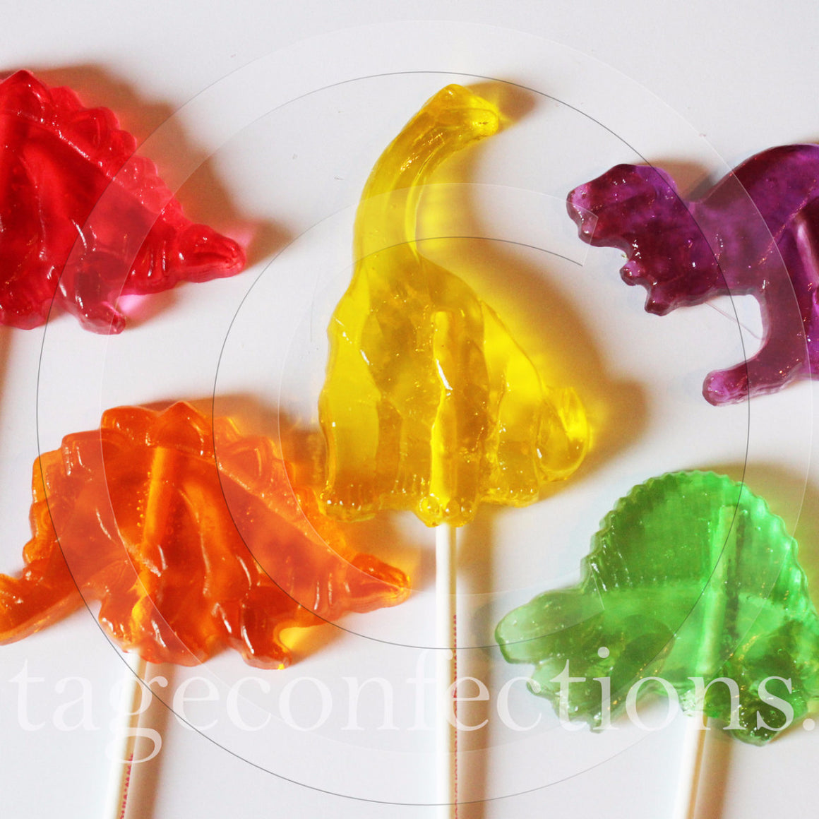 Dinosaur shaped lollipops by I Want Candy! (5pc)
