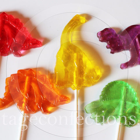 Dinosaur shaped lollipops by Vintage Confections (5pc)