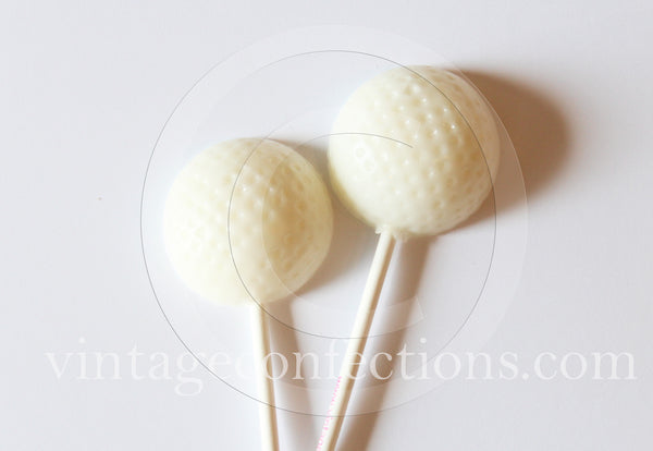 Golf ball lollipops by Vintage Confections (6pc)