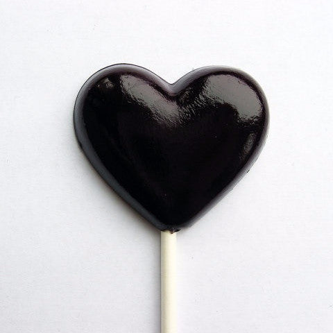 Black Heart lollipops set of 6 by I Want Candy!