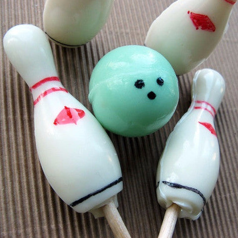 Bowling party lollipops by Vintage Confections (20pc)