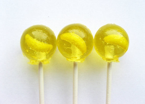 Bananas lollipops by Vintage Confections