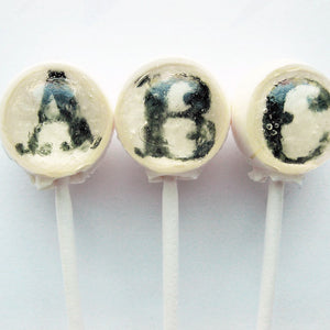 Fancy filigree letters ball style edible image