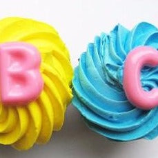 Alphabet cupcake toppers by Vintage Confections (12 pc)