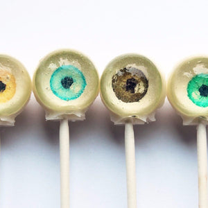 Eyeballs edible art lollipops