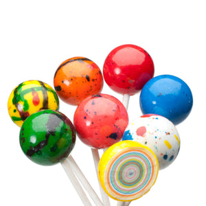 Giant Jawbreakers on a stick