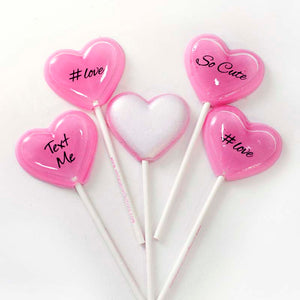 Secret Admirer Heart 6pc lollipop set by I Want Candy!