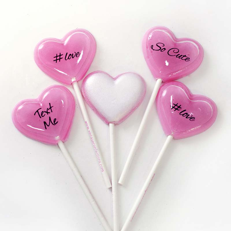 Secret Admirer Heart 5pc lollipop set by I Want Candy!