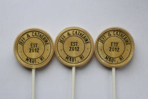 Destination wedding lollipops by I Want Candy!
