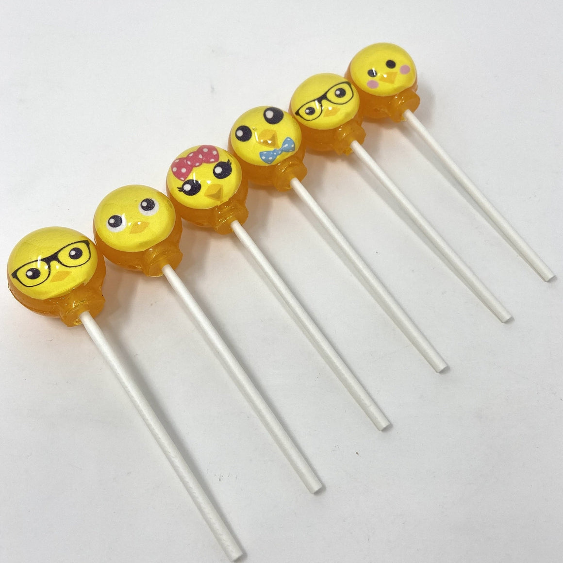 Emoji Easter Chicks set of 6 lollipops by I Want Candy!
