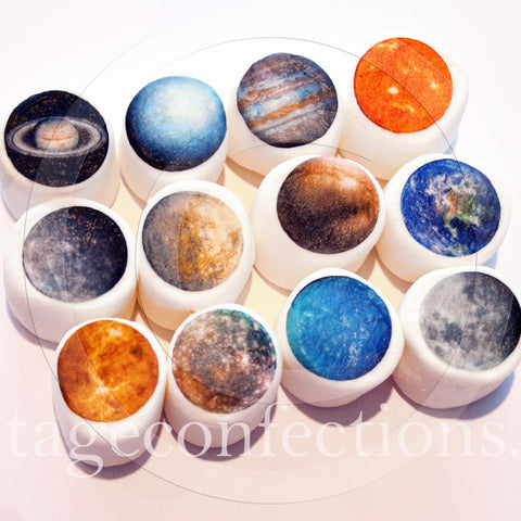 Planet edible art marshmallows by Vintage Confections