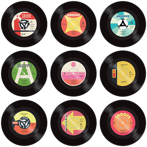 Vintage vinyl record lollipops by Vintage Confections