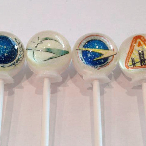 Star Trek inspired edible image lollipops by I Want Candy!