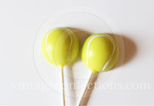 Tennis ball lollipops by I Want Candy! (5pc)