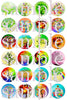 Whimsical trees flat style edible image lollipops by Vintage Confections