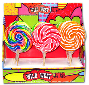 WILD WEST SWIRL LOLLIPOPS ASSORTED