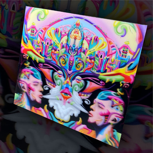 3D Intellectual Utopia DMT art print by Ayjay Art